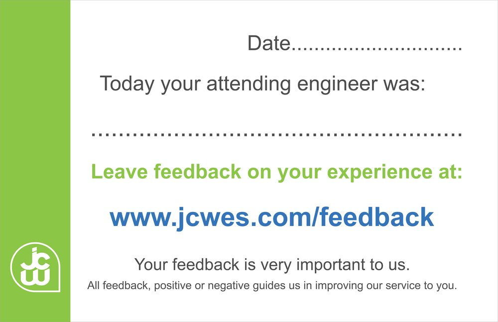 Engineer Feedback Card