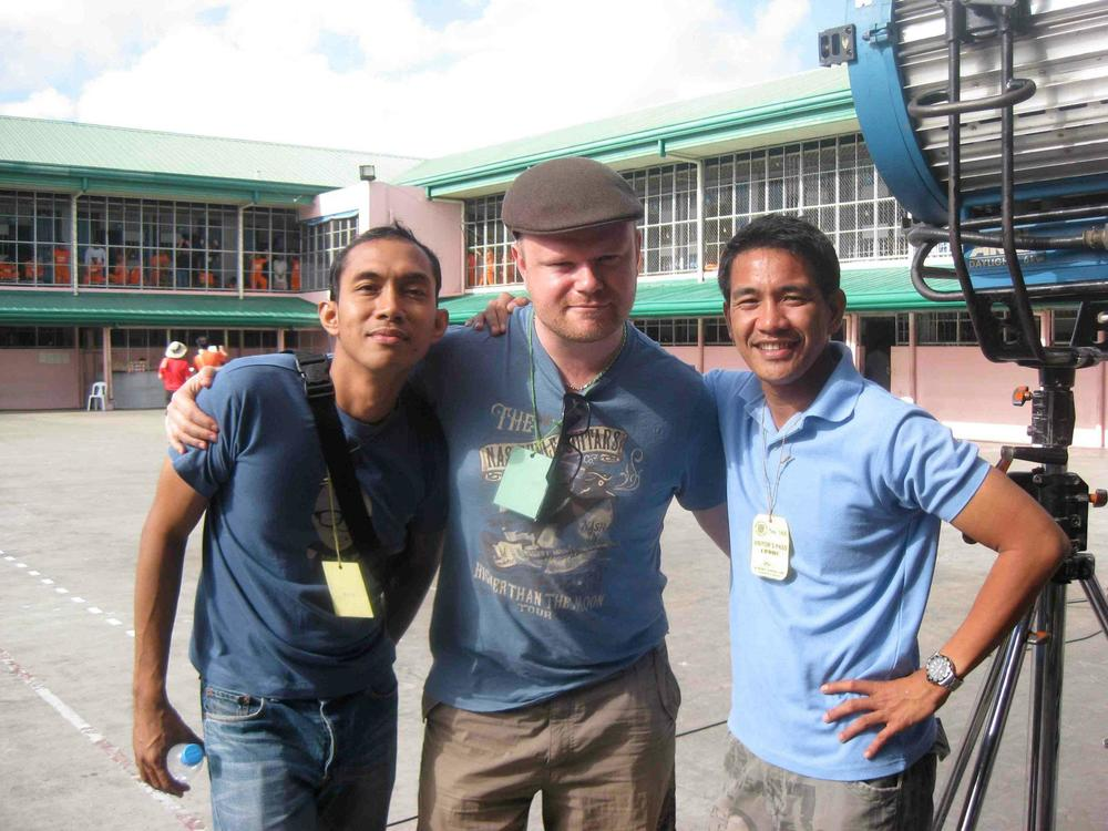 Soundie - Mark Laccay, me and Director, Cesar Apolinario