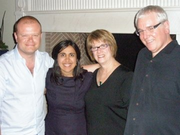 Me, Mitra, Jan & Tim Simonec (orchestrator on Up, Jurassic World)