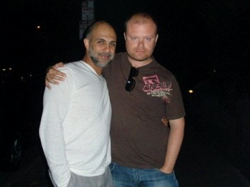 With actor, Anthony Azizi