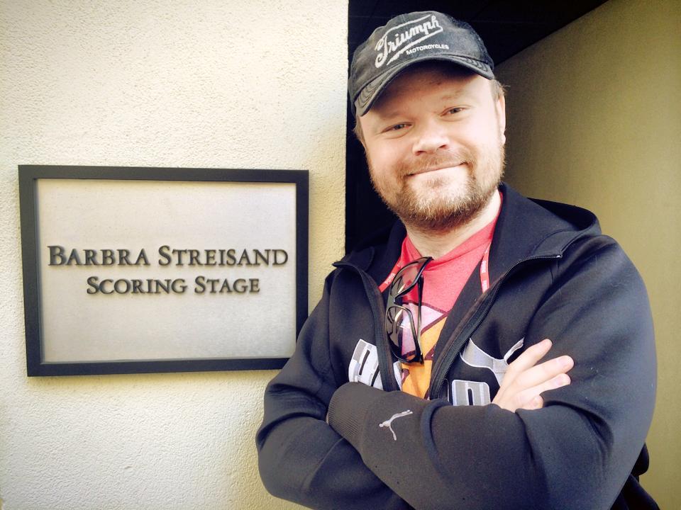 At the Barbara Streisand Scoring Stage