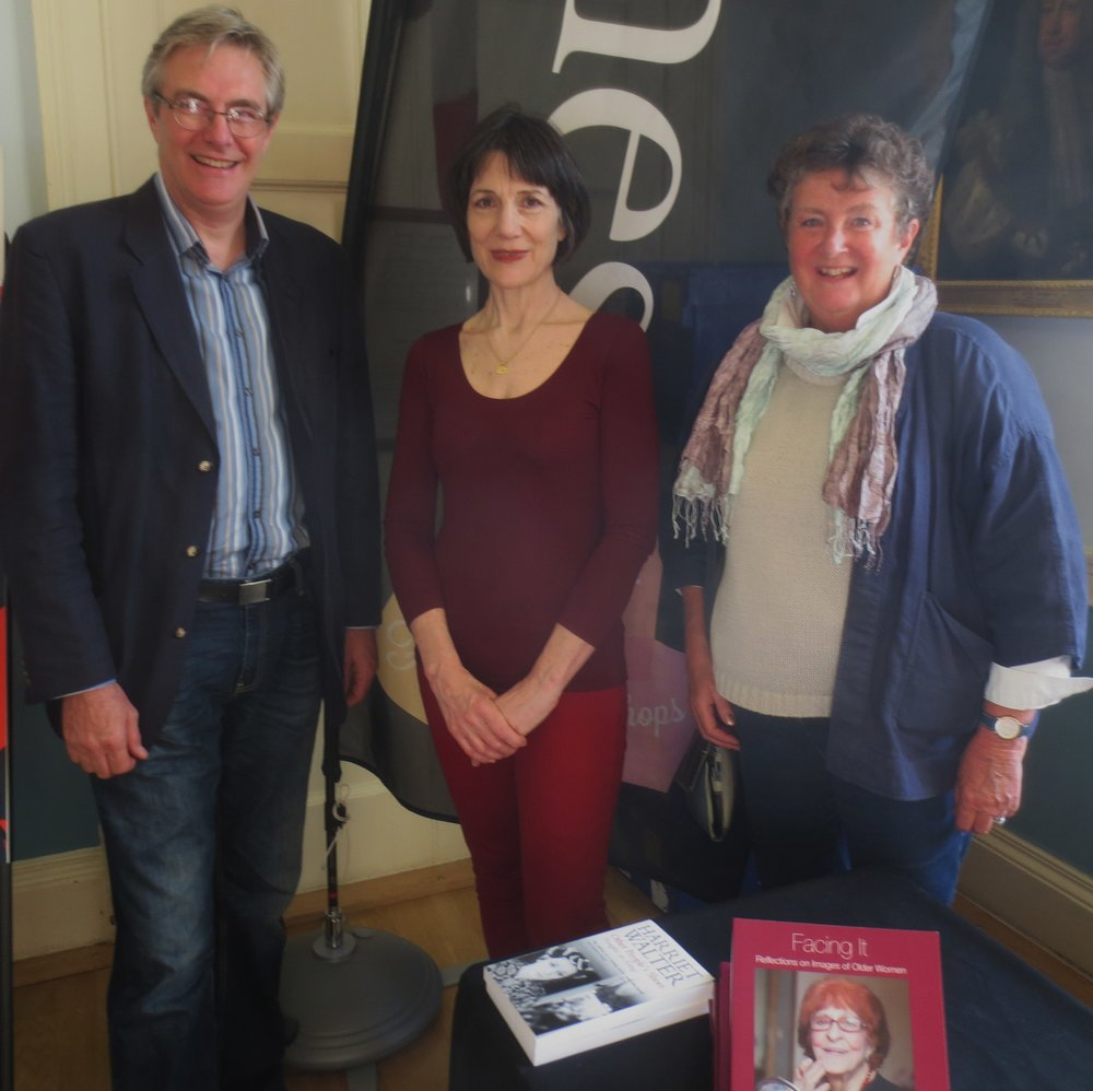 Dame Harriet Walter with Ann and Andrew Ellison at the Bath Literature Festival, 2014