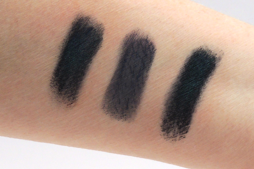 left to right: Urban Decay Prank from Spectrum palette on UD Primer Potion, No Primer and NARS Eyeshadow Base.