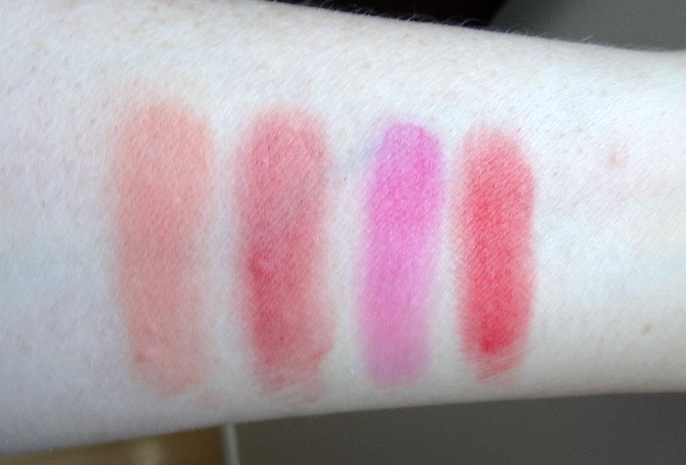 Dior Rouge Lipstick: 136 Delicate Matte, 772 Classic Matte, 787 Exuberant Matte & 999 Matte