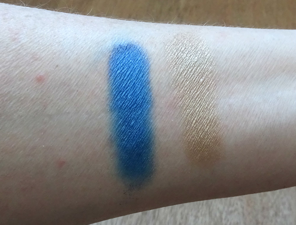 Victoria Beckham x Estee Lauder Eye Palette: Fire Sapphire and Blonde Cumin