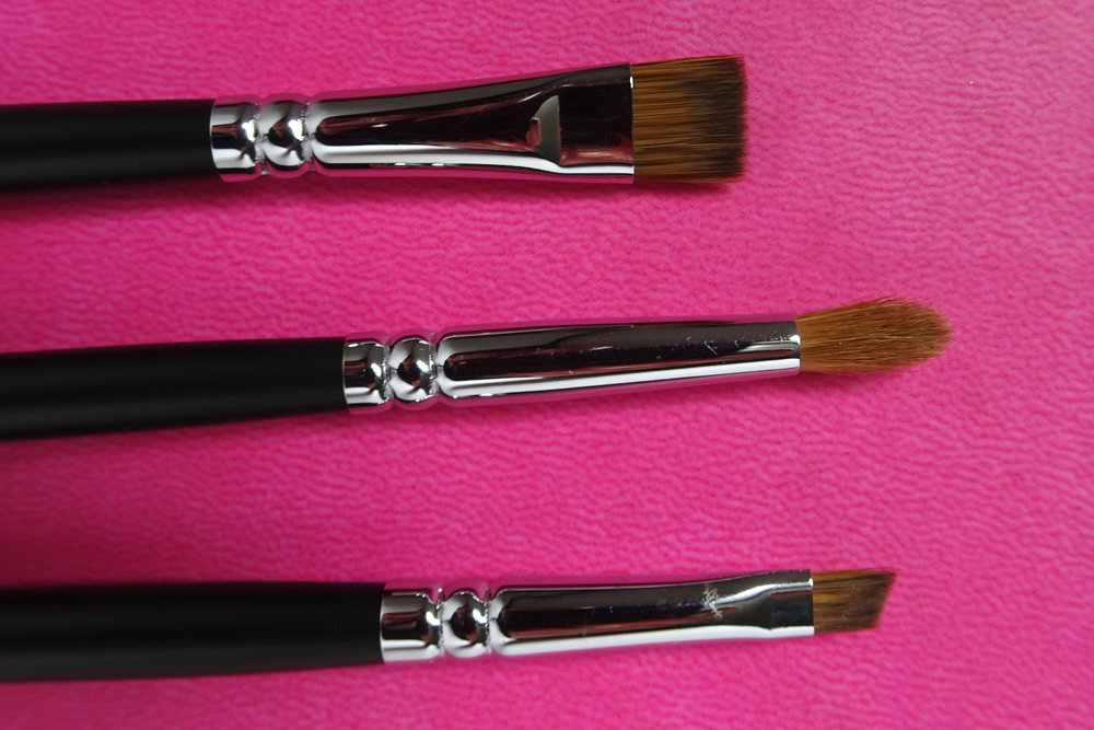 Top to bottom: C450 Flat Eyeliner, C440 Pointed Liner and C490 Eyebrow