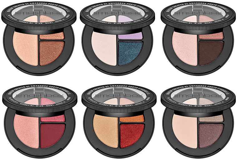 Smashbox Photo Edit Eyeshadow Trios: #Goals, #Repost, Double Tap, Holy Crop, It's Fire and Night Shoot.