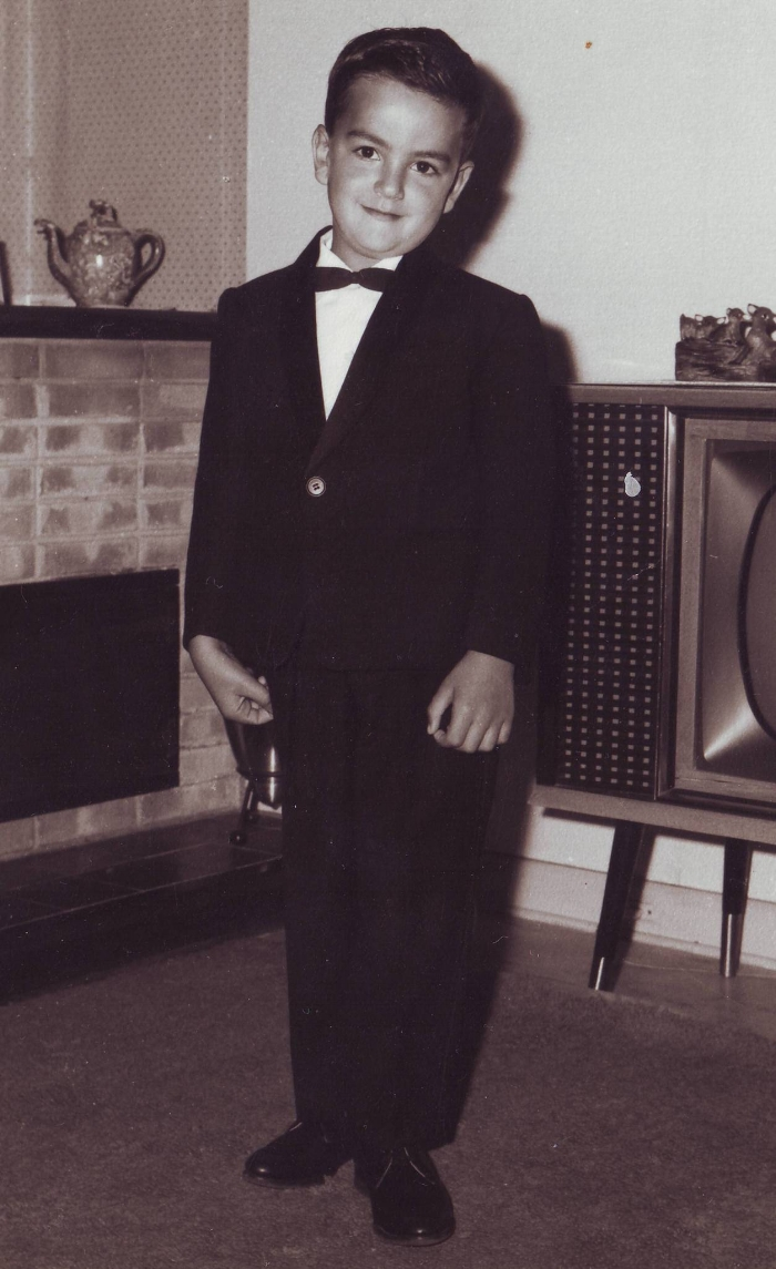 James as a young boy- aged about 6