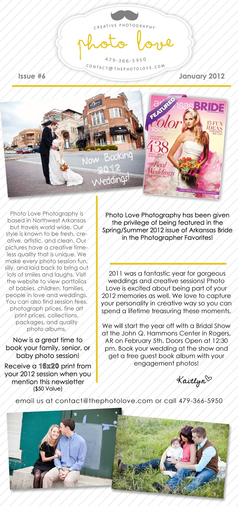 Photo Love Photography January 2012 Newsletter