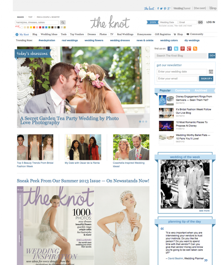 Featured photographer on The Knot