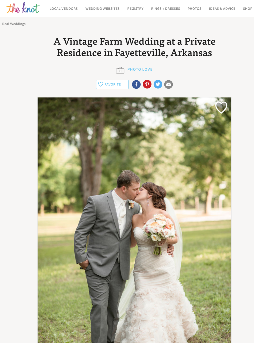 Emily + Dylan | Featured on The Knot Real