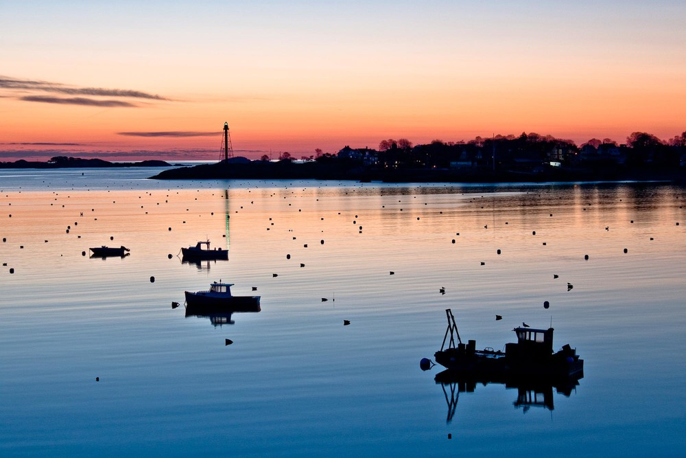 Marblehead Harbor Silhouettes