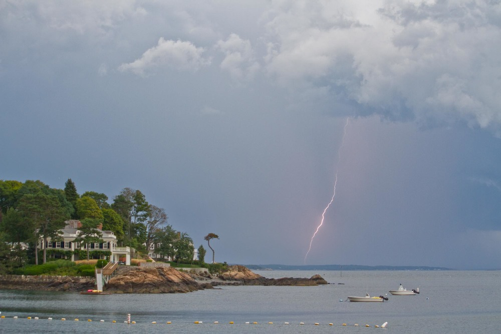 Lightning over Peach's Point