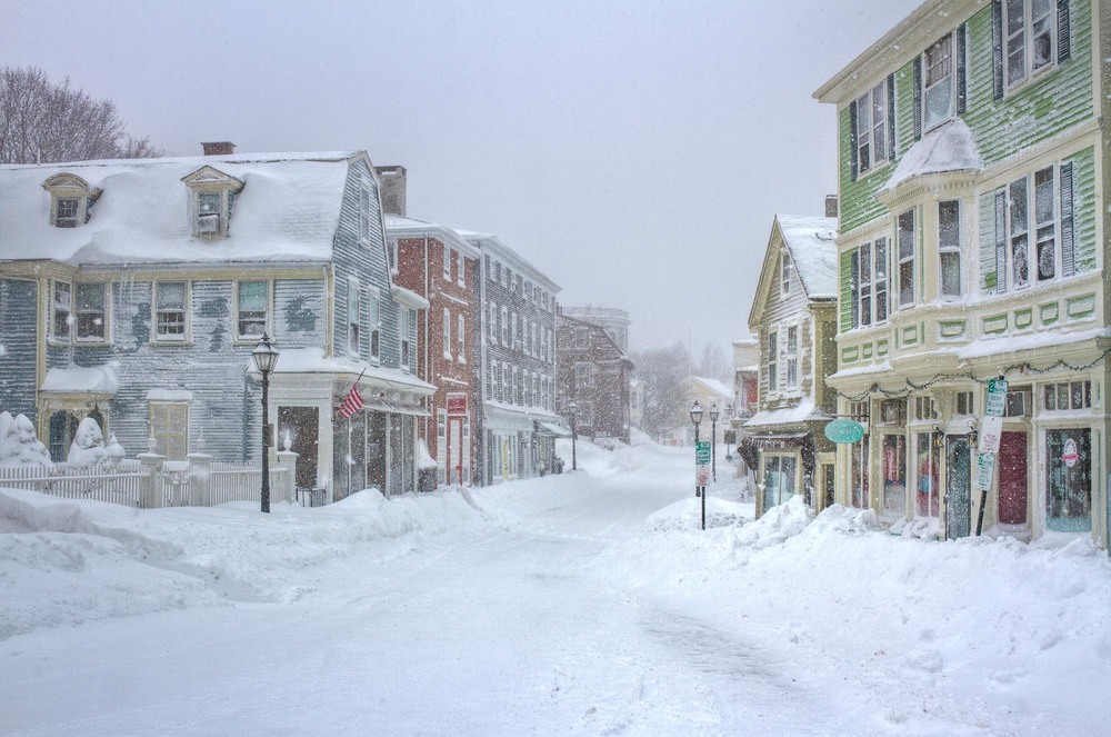 Blizzard on Washington Street