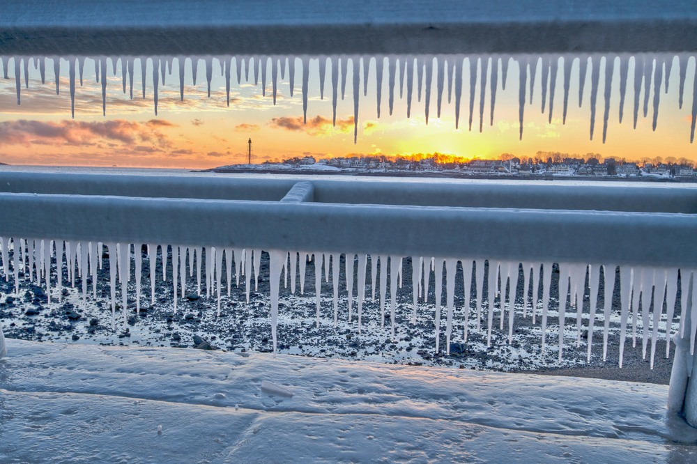 Fort Beach - Icicles & Fence.jpg
