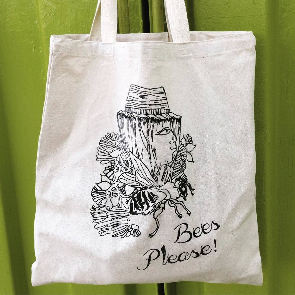 #beepublic tote bags, y'all! Thanks, @dataplancowboy for the beautiful execution. 🐝❤️💰