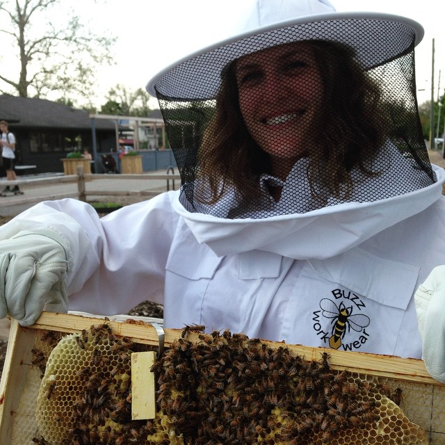 Just a little Monon Trail beekeeping. #beepublic @publicgreens @greengoddess12 @marthashoover