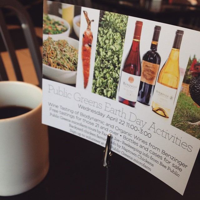 Check out the Earth Day happenings at @publicgreens! 🌱🐝🍷#beepublic (at Cafe Patachou)