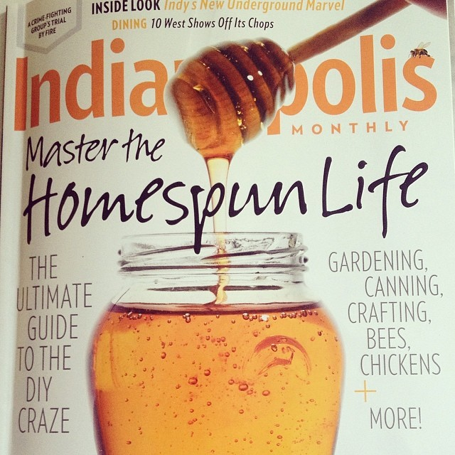 Holy wow! Check out April's issue of  Indy Monthly  for a piece written by yours truly on my foray into beekeeping. I'll post the link here as soon as it's available to read online.
