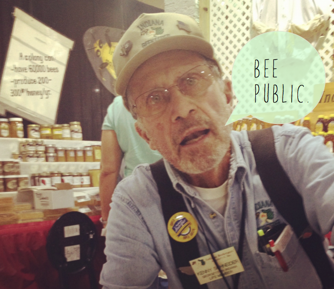 "Meet Kenny. He waxed poetic about honey, signed me up for a one-year membership to the Indiana Beekeeper's Association, and in general, got me super excited at the prospect of keeping bees in an urban setting.    ""That's easy,"" he said. ""Bees don't care where they live. Bees have wings."""