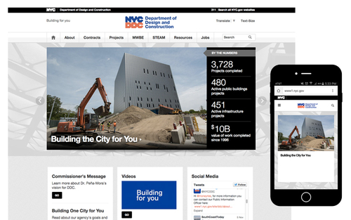 The current website for the  Department of Design and Construction .