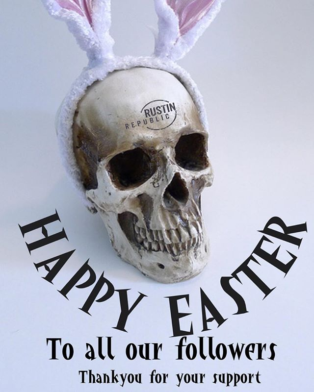 Happy Easter to all our followers. Thank you for your support. #independentbrand #lifestylebrand #oldschool #skull #aircooledvw #classicrides #patina #volkswagen #vwlifestyle #easterbunny #toomuchchocolate #clothingbrand #vwfamily