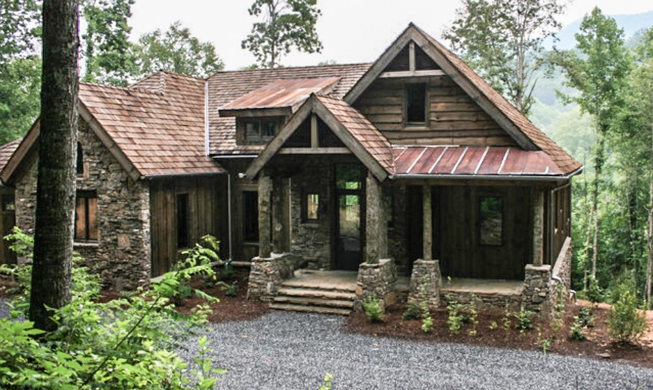 Small mountain home plans Stone cottage kit homes