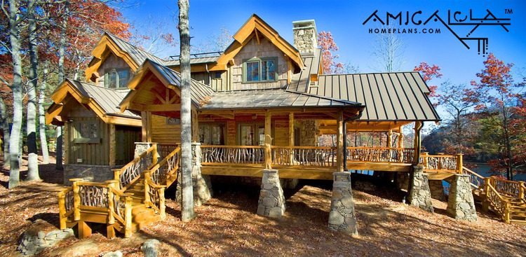 Camp Cullowee Cottage — Rustic Mountain Homes | Amicalola Home Plans