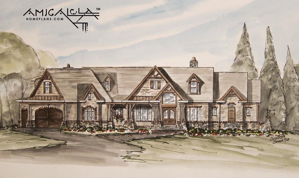 12001 Amicalola River Lodge | Amicalola Home Plans | Klippel Residential  Design © Part 71