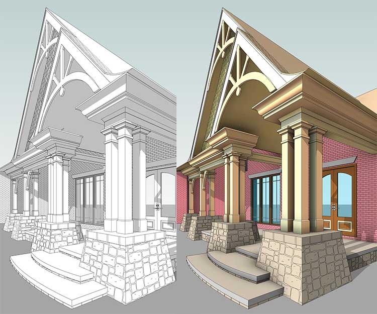Efficient Design By © Amicalola Home Plans