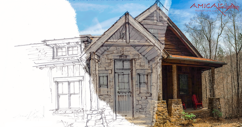 Rustic Mountain Homes Amicalola Home Plans