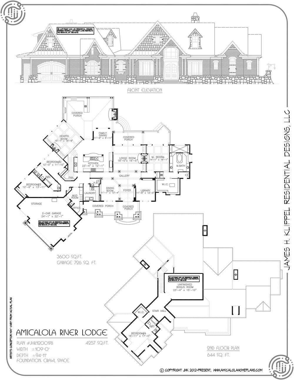 Amicalola river lodge rustic mountain homes amicalola for River view house plans