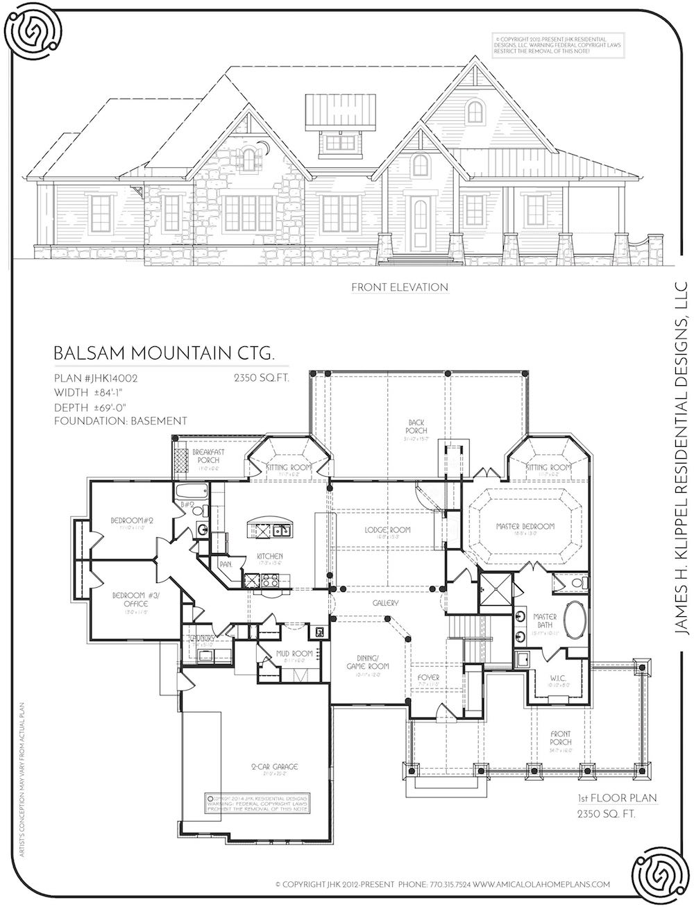 Balsam Mountain Lodge Rustic Mountain Homes Amicalola Home Plans