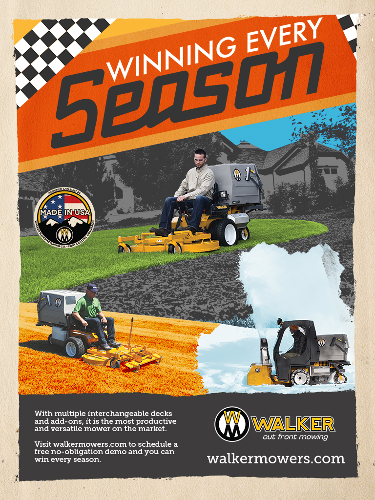 Walker Mowers Daytona 500 Souvenir Guide Ad