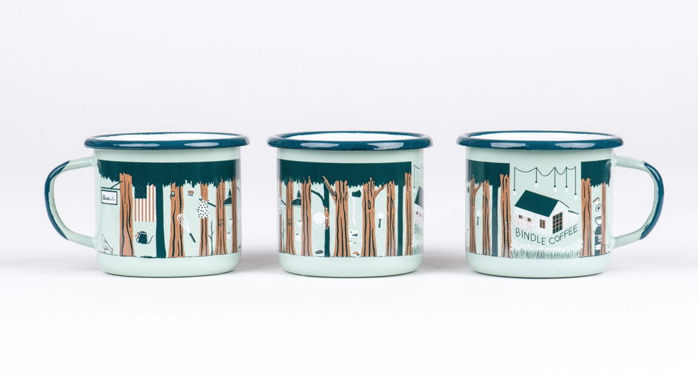Enamel Mug for Bindle Coffee