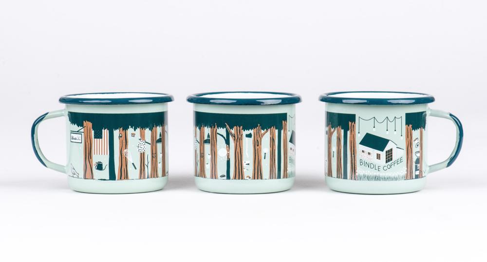 Enamel Mug for Bindle Coffee