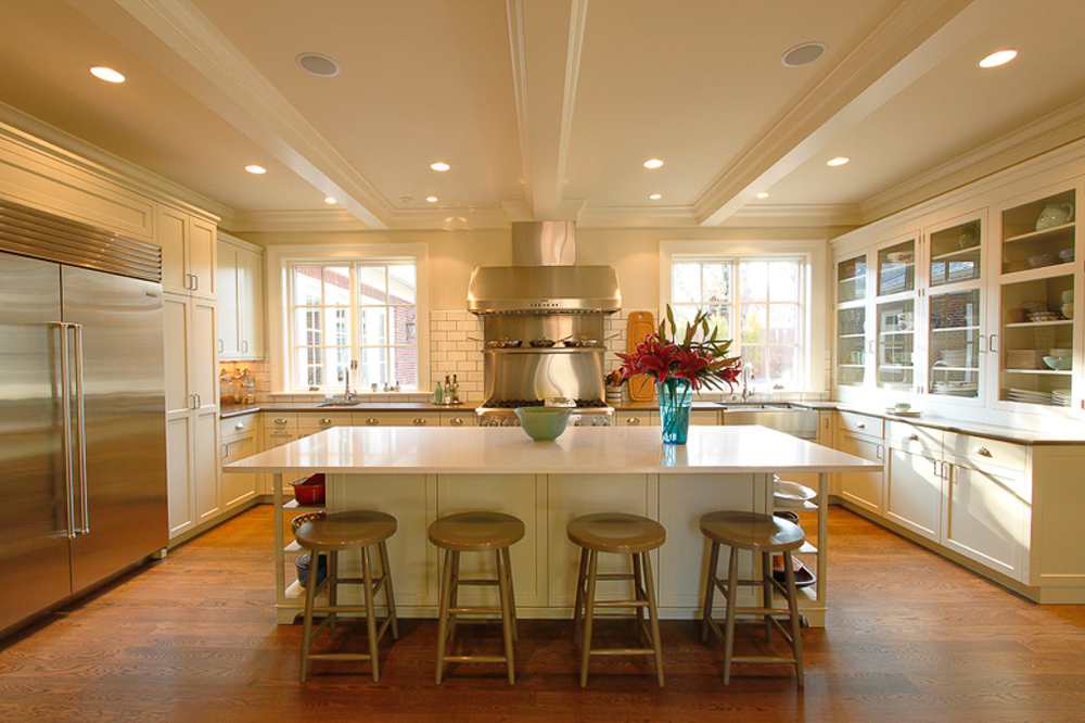 Painted contemporary style kitchen. Lexington, Kentucky.