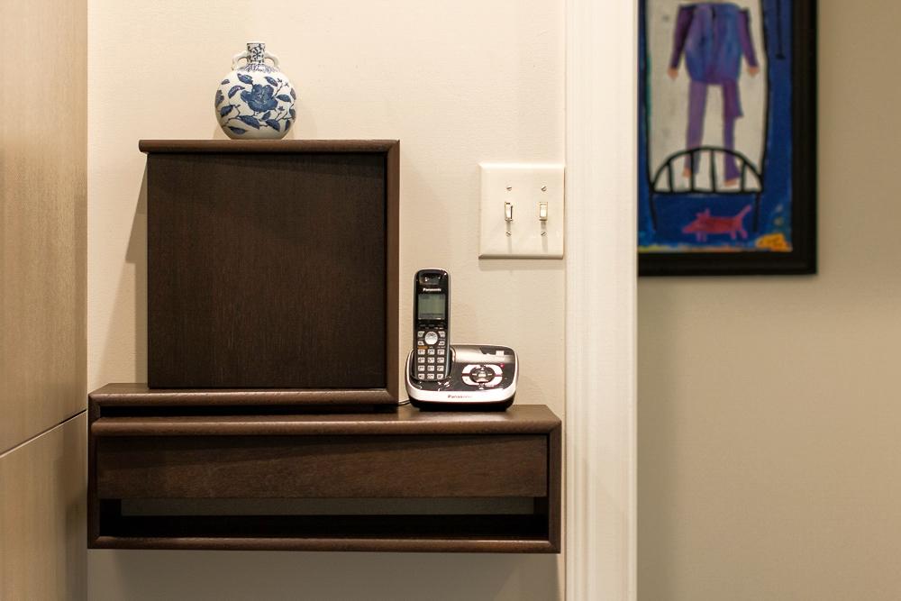 Peruvian Walnut telephone cabinet. Lexington, Kentucky.