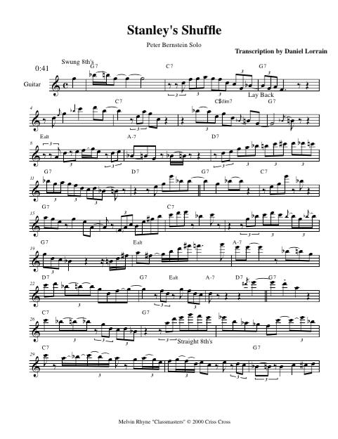 Peter Bernstien - Stanley's Shuffle (1999)