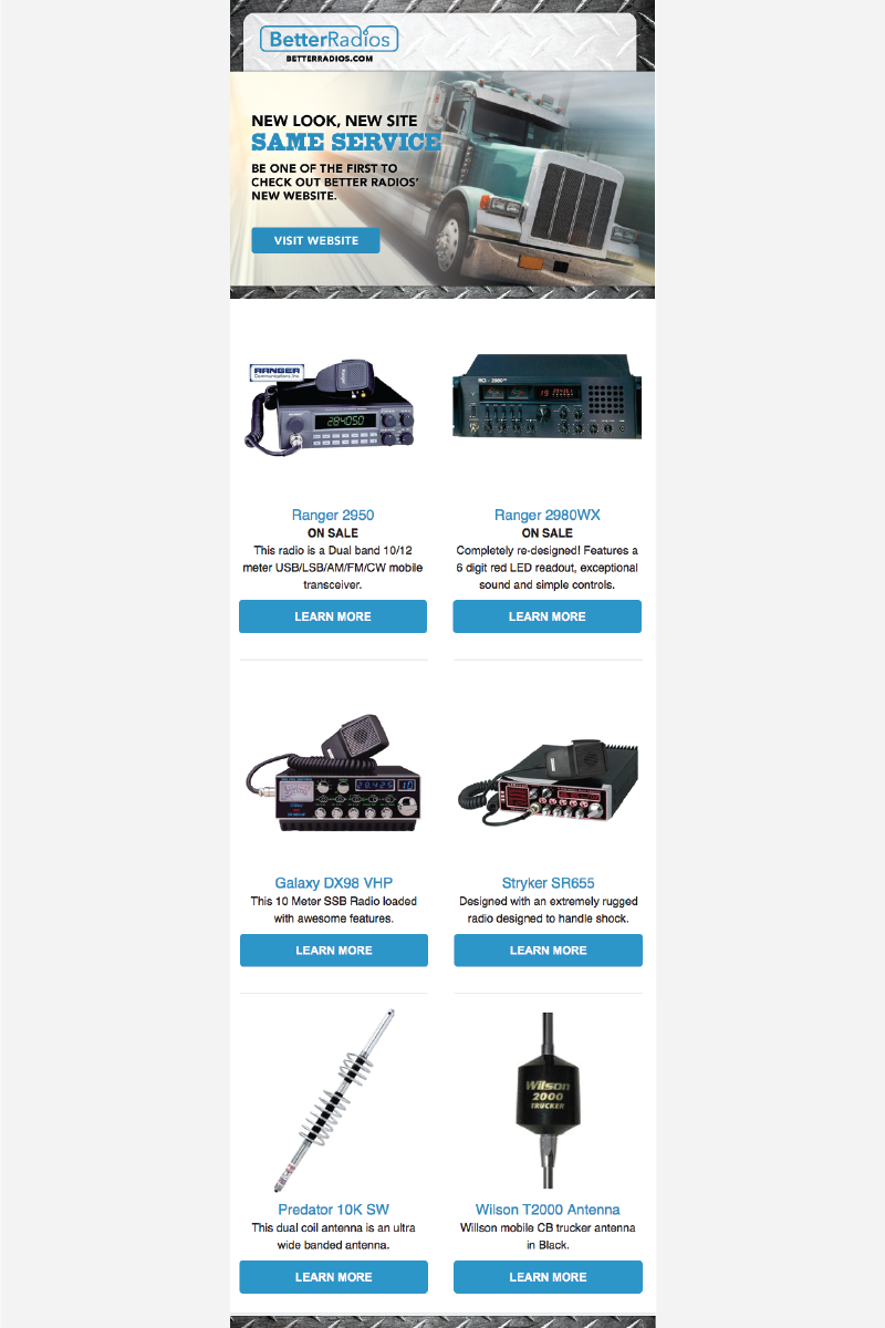 Better Radios Sales Email Campaign