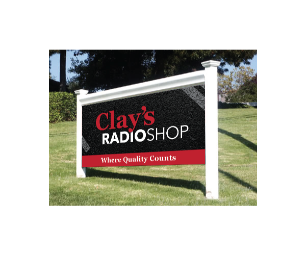 Clay's Radio Shop Sign Design