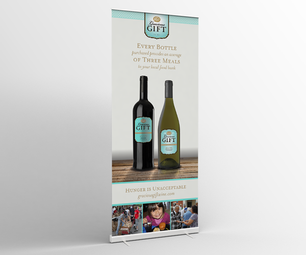 Gracious Gift Wine Pop-Up Banner