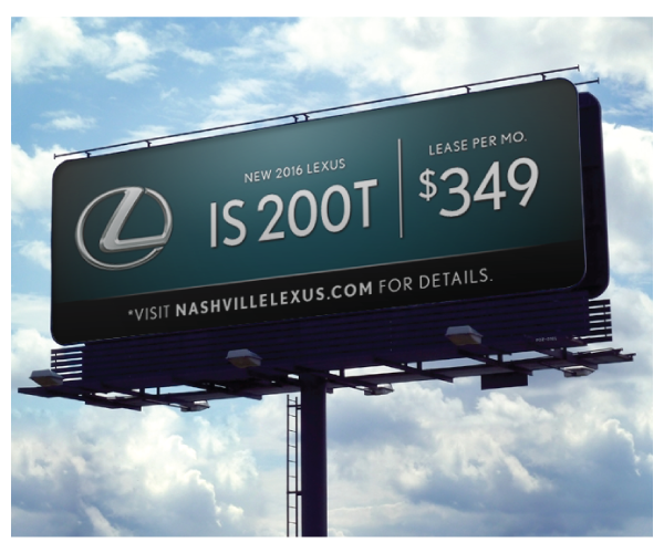 Lexus Billboard Design