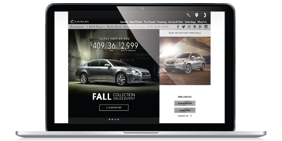 Lexus Dealer Website Graphics