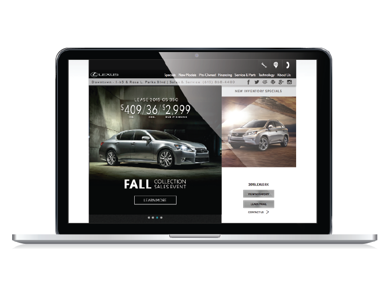 Website Graphics for automotive dealerships
