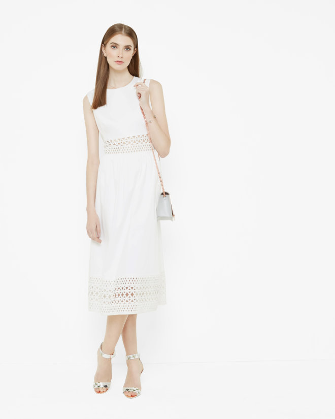 Cut out midi dress, £169, TEDBAKER