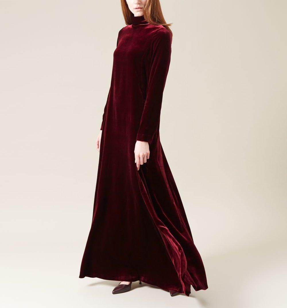 Mayella velvet Dress, £349, Hobbs