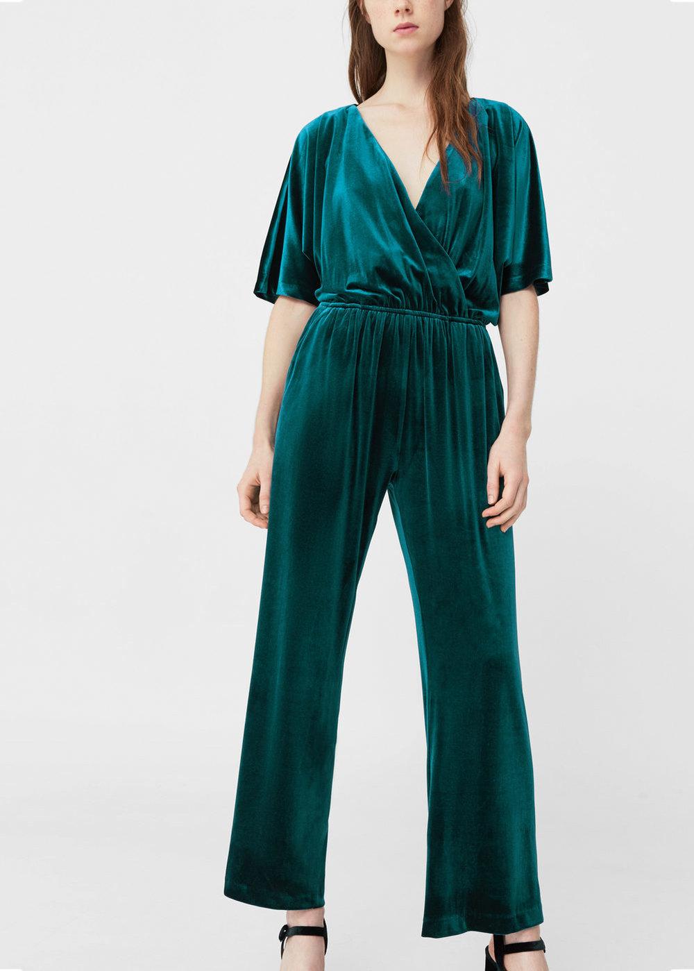 Velvet jumpsuit, £49.99, Mango