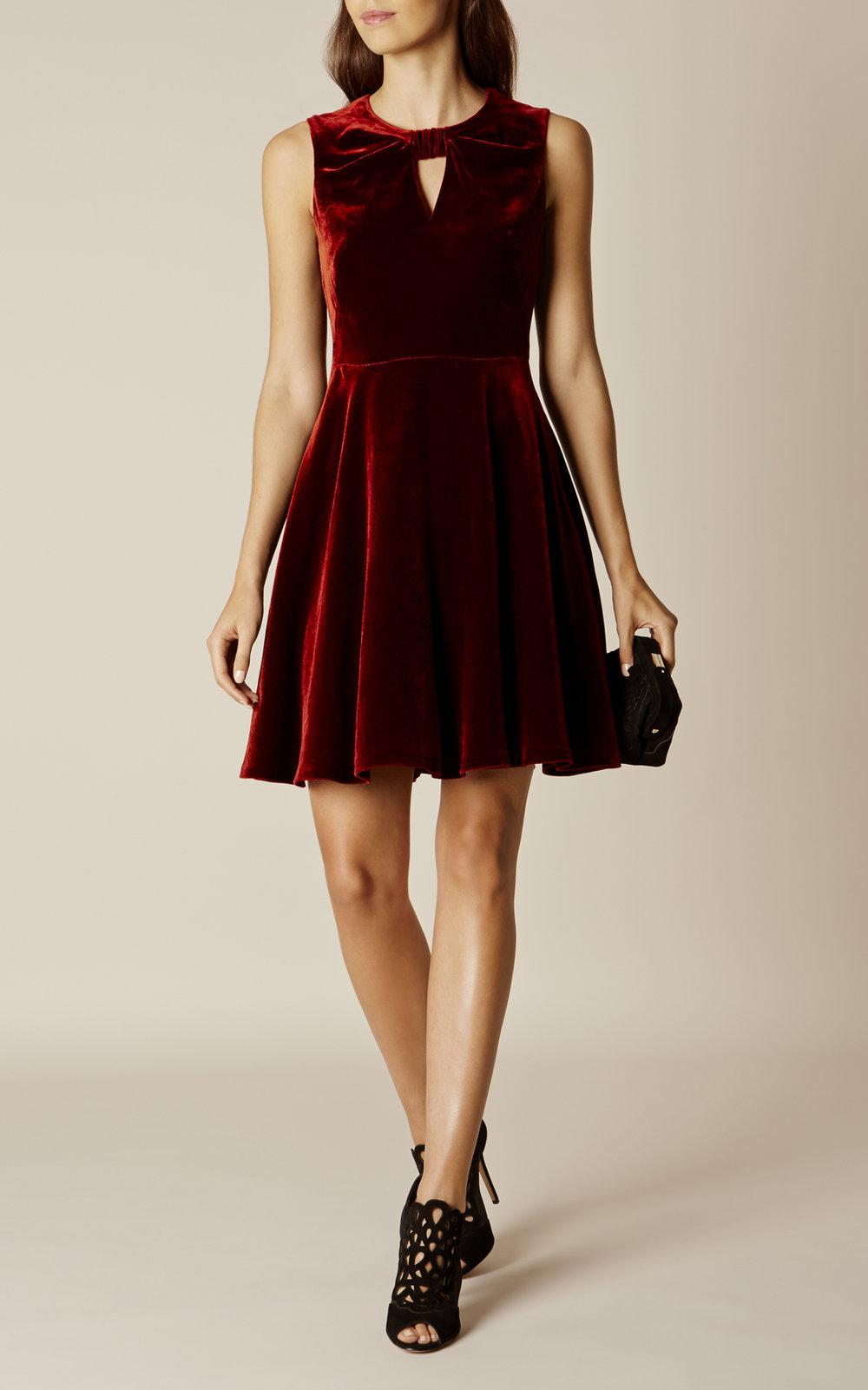 Velvet Dress, £170, Karen Millen