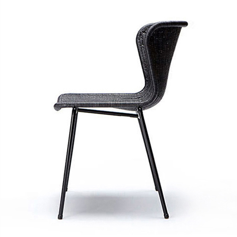 Feelgood C603 chair by Yuzuru Yamakawa. Natural wicker chair available in pale wicker, natural, dark grey or charcoal. Outdoor, garden chair available in black, white or honey. Contract use
